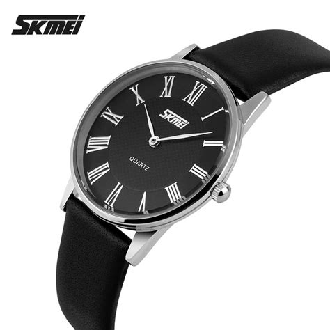 Skmei Casual Leather Water Resistant 30m White skmei casual leather water resistant 30m 9092cl black 2