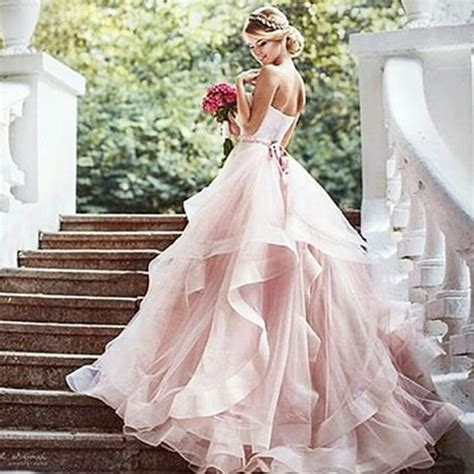 Pink Wedding Dress by 25 Best Ideas About Pink Wedding Dresses On