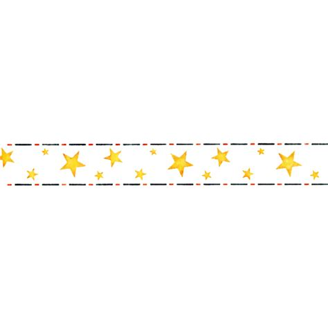 Border Of Stars Side Cake Stencil 4.5in x 33in