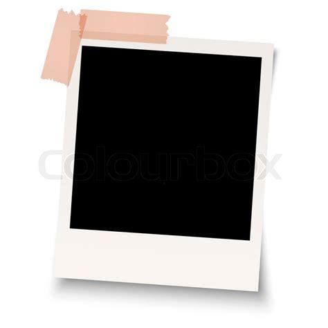 polaroid with blank polaroid with adhesive stock vector colourbox