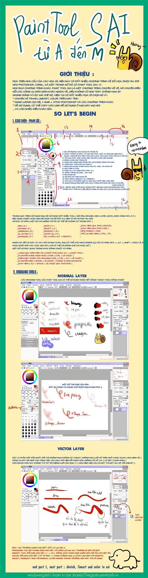 làm quen với paint tool sai hướng dẫn c 225 ch sử dụng painttool sai sinh vi 234 n