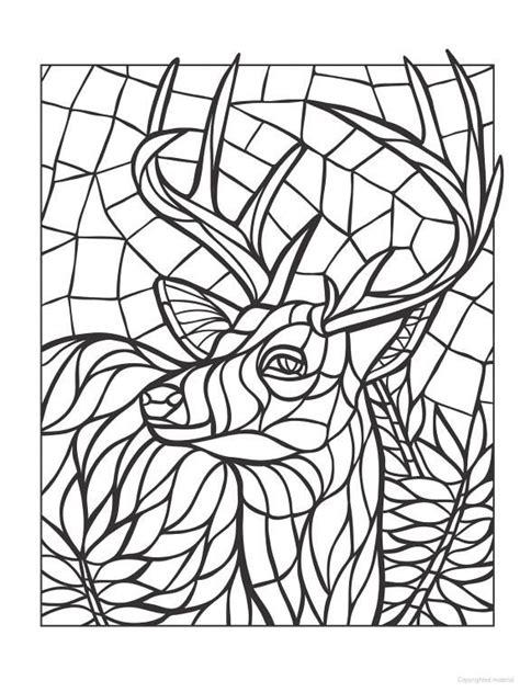 abstract deer coloring page coloring for adults kleuren voor volwassenen