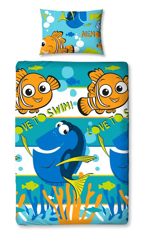 Bed Cover Single Nemo 120x200 new finding nemo dory single duvet quilt cover set boys fish bed ebay