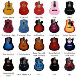 guitar colors color options sunsmile