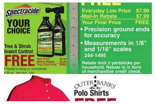 menards rebate deals
