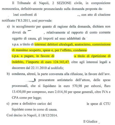 Banco Di Napoli Il Tuo Conto by Stopbank It Usura Bancaria Anatocismo