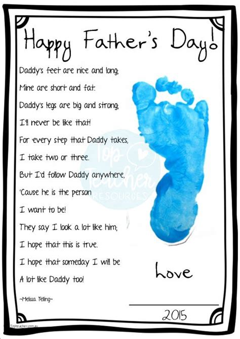 fathers day footprint s day footprint poem top innovative and