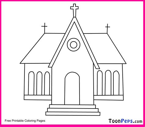 Church Coloring Pages Printable free coloring pages of church