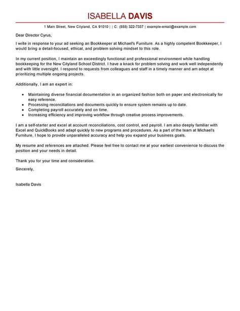 Spacex Cover Letter by Best Bookkeeper Cover Letter Exles Livecareer