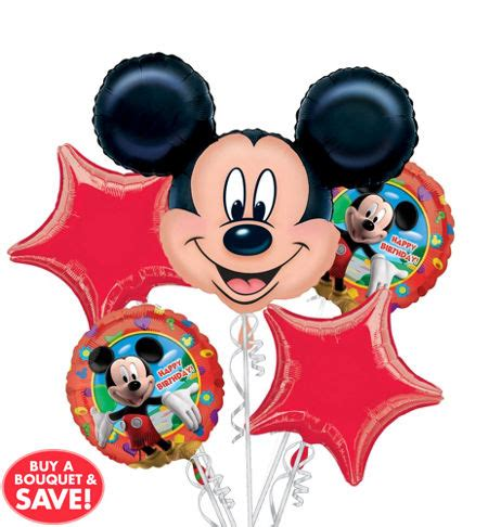 Balon Happy Birthday Mickey Mouse 22094 happy birthday mickey mouse balloon bouquet 5pc from
