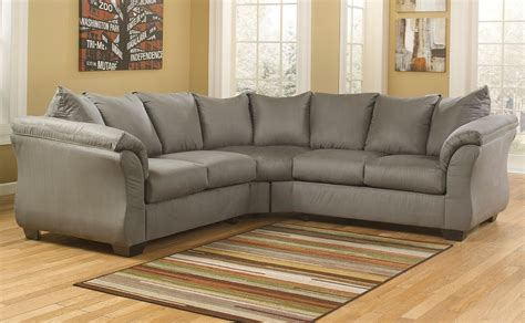 ashley curved sectional ashley furniture darcy sage 75005 curved arm sectional
