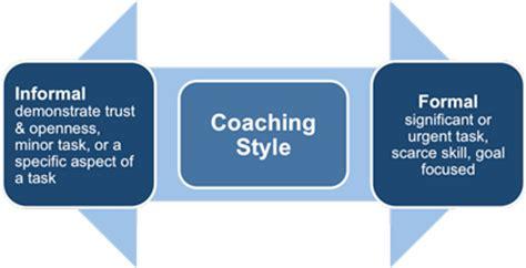formal and informal coaching