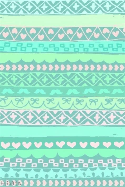 tribal pattern pastel wallpaper mint green tribal print wallpaper cute phone wallpaper