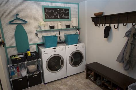 Set Of 12 Laundry Peg laundry room with peg board contemporary other