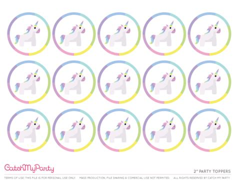 free printable unicorn cupcake toppers free unicorn birthday party printables for young girls