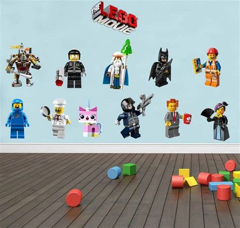 character wall stickers lego 11 characters decal removable wall sticker home decor emmet benny rooms