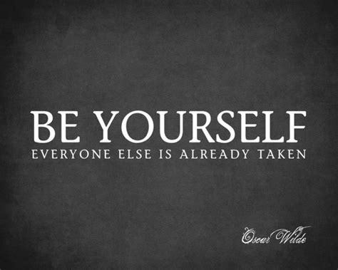 Contemporary Wall Stickers be yourself everyone else is already taken oscar wilde