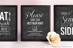 free printable chalkboard wedding signs blog