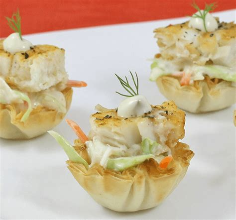 free printable appetizer recipes easy healthy appetizers tilapia phyllo bites