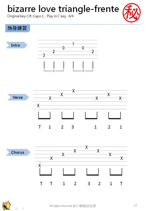 Bizarre Love Triangle Guitar Chords