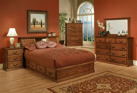traditional oak platform bedroom suite e king size