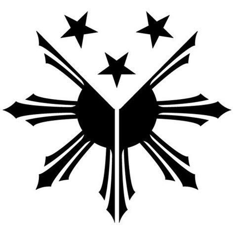 3 stars and a sun tattoo tribal philippines flag sun pambansang watawat by