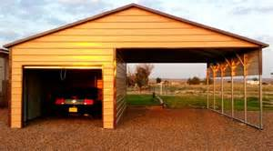 Enclosed Carport Kits Partial Enclosed Metal Carports Carports For Sale