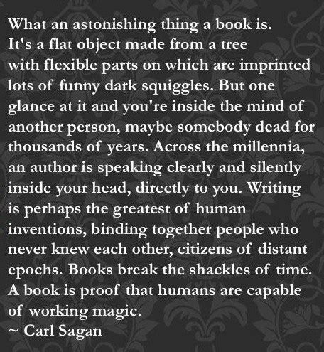 A Book Quote for Sunday from Carl Sagan » Helen Lowe I M Lost