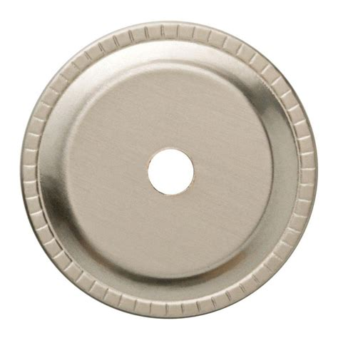 Cabinet Knob Backplate by Liberty 1 1 4 In Satin Nickel Ribbed Edge Cabinet Knob