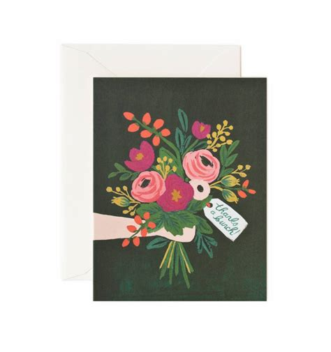 greeting card for thanks a bunch greeting card by rifle paper co made in usa