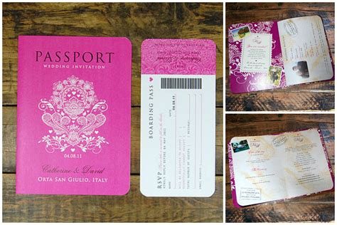 diy passport wedding invitations template invitation