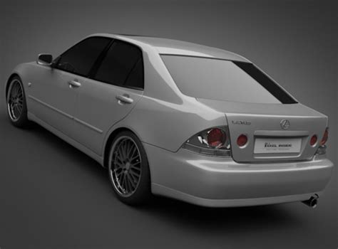 lexus models 2005 2005 lexus is200 3d model max obj 3ds lwo lw lws