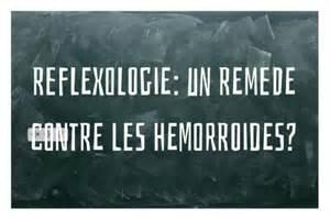 reflexologie un remede contre les hemorroides