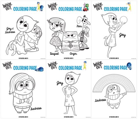 inside out emotions coloring page free coloring pages of inside out movie