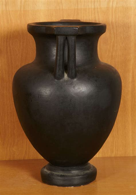 Big Black Vase by Terracotta Vase With Black Matt Glaze Circa
