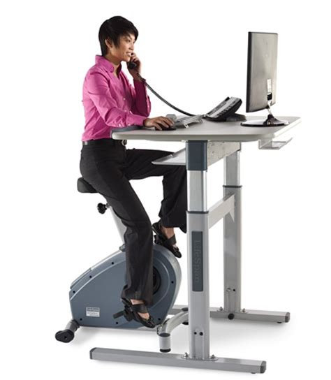 exercise bike with laptop desk bike desks get an at your desk workout 1 free accessory
