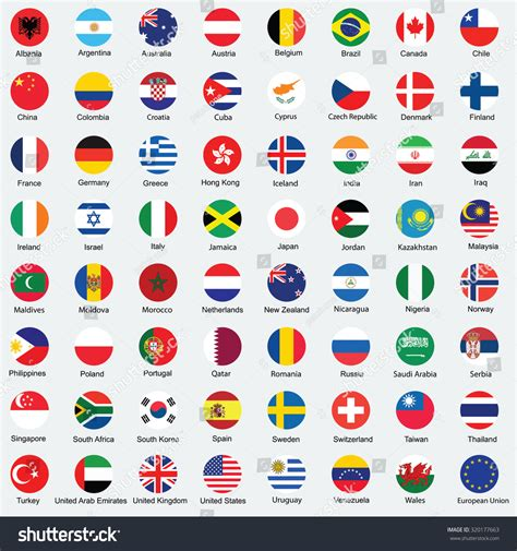 flags of the world design royalty free collection of flag button design 320177663