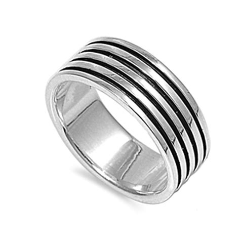 sterling silver womans mens engraved wedding ring