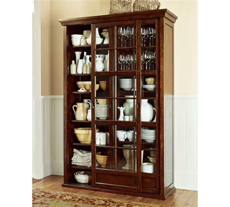 pottery barn china cabinet garrett glass cabinet pottery barn for the home