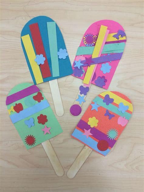 crafts preschool popsicle summer craft for preschoolers kindergarten