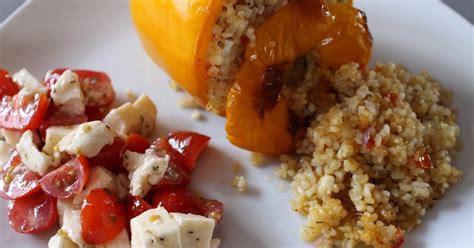 cuisiner un poivron le de mel poivrons farcis au boulgour