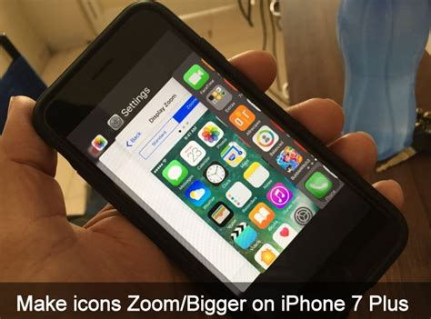 how to make icons bigger on iphone x iphone 8 plus 7 xs ios 11 ios 12