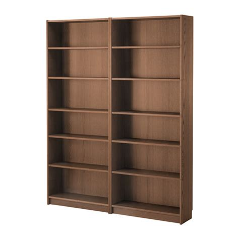 billy bookcase brown ash veneer ikea