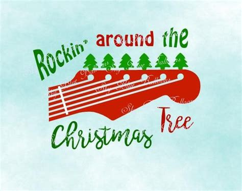 christmas svg rockin around the christmas tree svg file