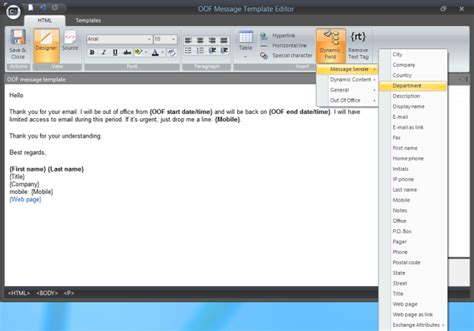 Set Up Out Of Office Reply For Another User On Your Exchange Or Office 365 Organization Out Of Office Email Template