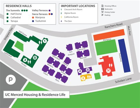 uc merced housing map of housing housing residence life