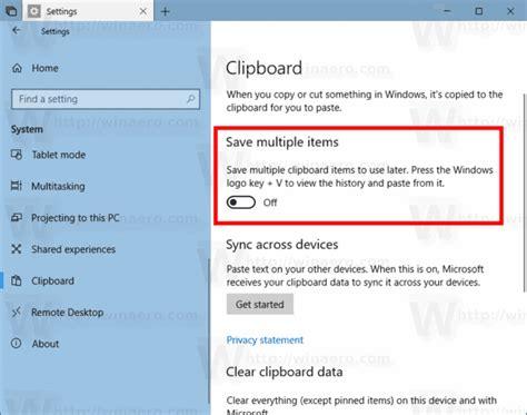 Clear Clipboard History in Windows 10 Access To Clipboard Denied Windows 10