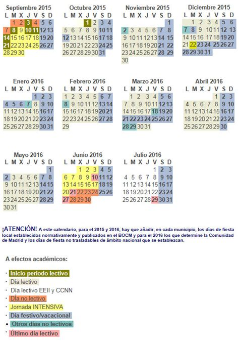 Calendario Escolar Madrid 2013 66 Calendario Escolar 2012 13 Instituto De Educacion