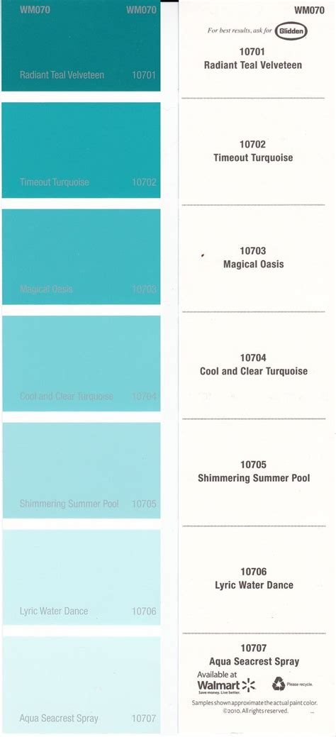 aqua blue paint color