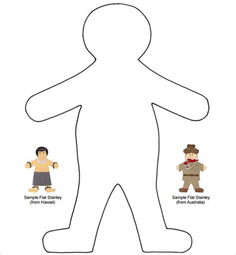 flat stanley template 8 free pdf download sle